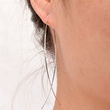 Punk Gold Color Simple Long Wire Fish Stud Earrings for Women