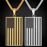 Hot American Flag Patriot Pendant Chain Necklace
