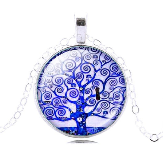 Colorful Tree of Life Pendant Chain Necklace