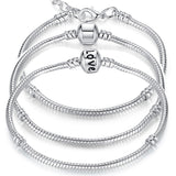 "Silver Plated ""Love"" Snake Chain Bracelet - RogueDeals.com"