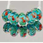 1 Bead- Little Orange Fish Acrylic Euro Bead