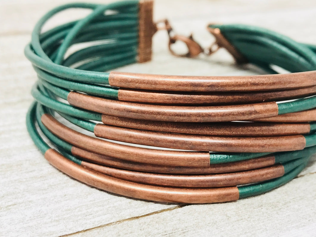 Half Stack Copper & Forest Green