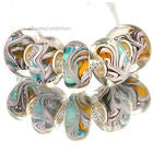 1 Bead- European Large Hole Acrylic Paisley Bead
