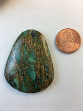 ALEAH- Green Agate Jasper Pendant with Green Pattern
