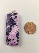 ALLIE- Beautiful PURPLE Ocean Jasper Oblong Pendant Bead