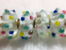 AISHA- European  Lampwork Glass POLKA DOT Large Hole Bead
