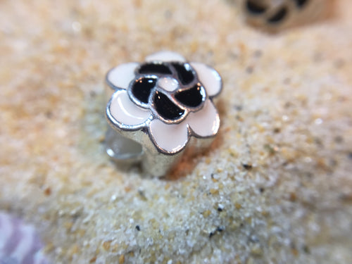 Blooming Flower -Enamel European Spacer Bead/Charm