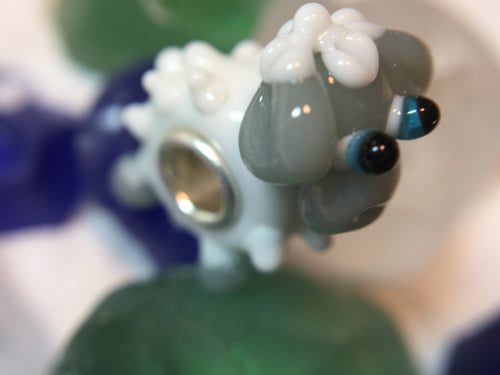 BAABAA SHEEP - European Lampwork Glass BAABAA SHEEP  Bead,