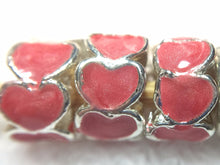 Circle of Hearts-Enamel European Spacer Bead/Charm