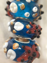 MALU- Lampwork Glass  STARFISH & SHELLS Large Hole Bead