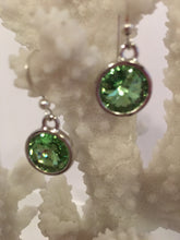 PARISSA - Swarovski Rivoli Earrings on Sterling Silver Earwires