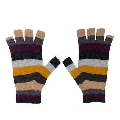 Striped Fingerless Gloves by {shop-name}