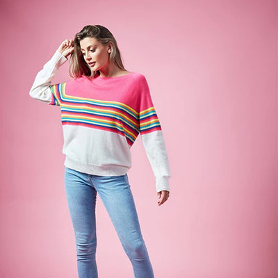 Block Stripe Sweat by {shop-name}