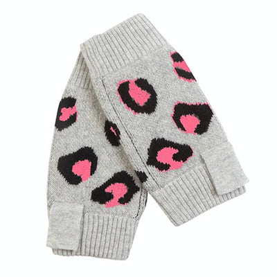 Leopard Wrist Warmers - Neon Pink by {shop-name}