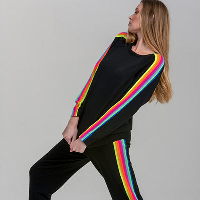Rainbow Sleeve Sweatshirt by {shop-name}