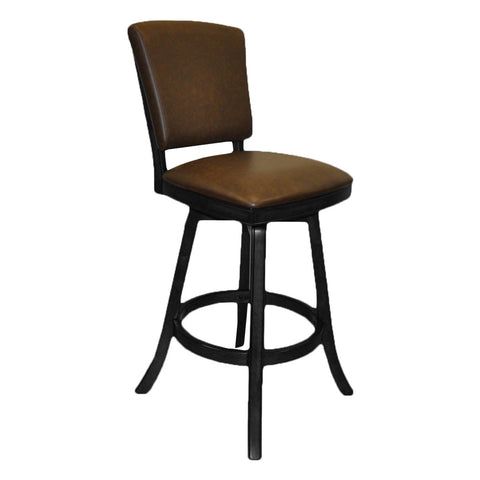 Imperial Bar Stool with Back in Black