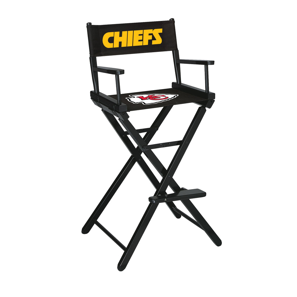 Imperial Kansas City Chiefs Bar Height Directors Chair