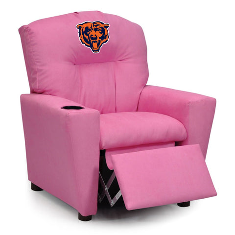 Imperial Chicago Bears Kids Pink Recliner