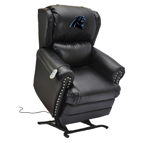Imperial Carolina Panthers Leather Coach Lift Recliner