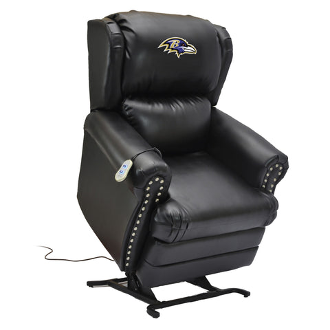 Imperial Baltimore Ravens Leather Coach Lift Recliner
