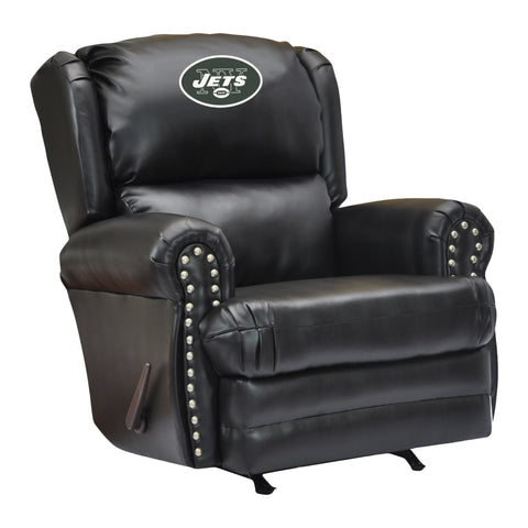 Imperial New York Jets Leather Coach Recliner