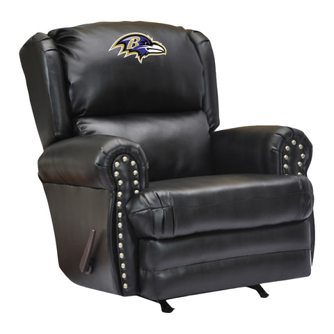 Imperial Baltimore Ravens Leather Coach Recliner