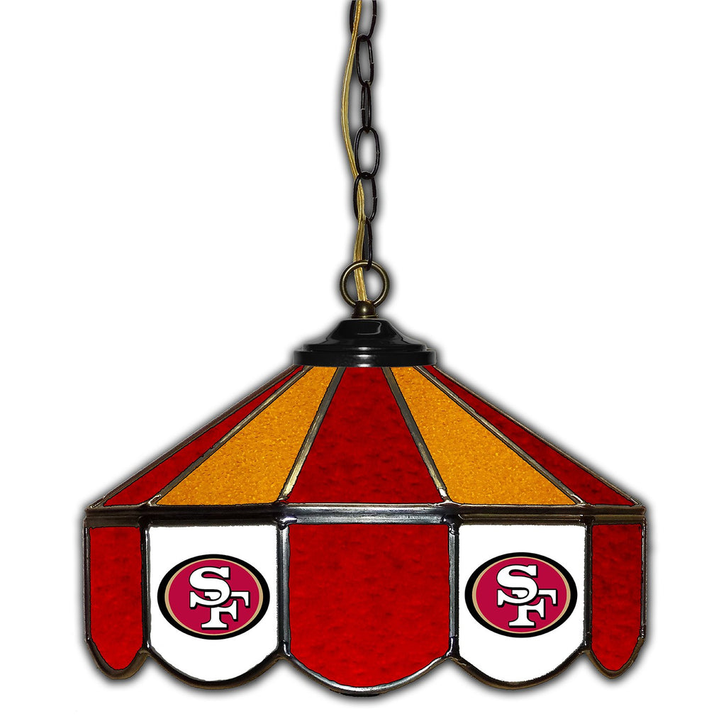 Imperial San Francisco 49ers 14-in. Stained Glass Pub Light