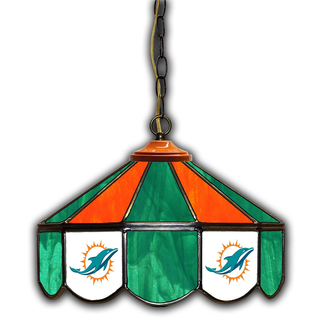Imperial Miami Dolphins 14-in. Stained Glass Pub Light