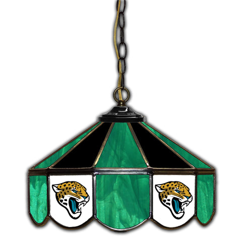 Imperial Jacksonville Jaguars 14-in. Stained Glass Pub Light