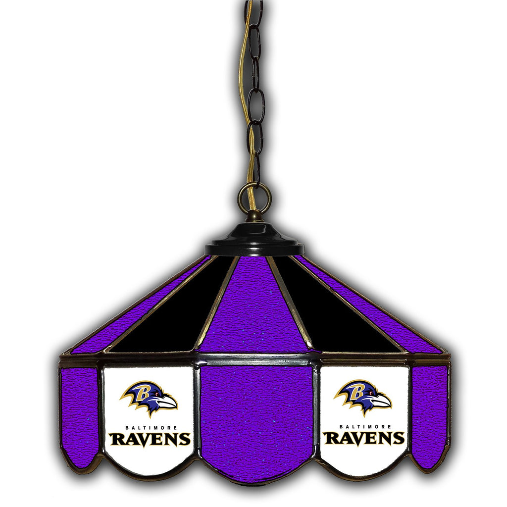 Imperial Baltimore Ravens 14-in. Stained Glass Pub Light