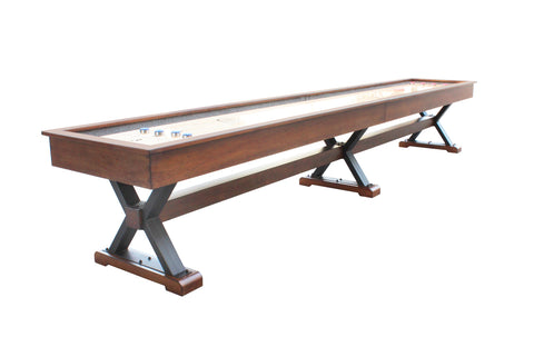 Playcraft 12' Santa Fe Pro-Style Shuffleboard Table in Cocoa Bean