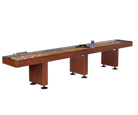 Carmelli Challenger 14' Shuffleboard in Dark Cherry Finish
