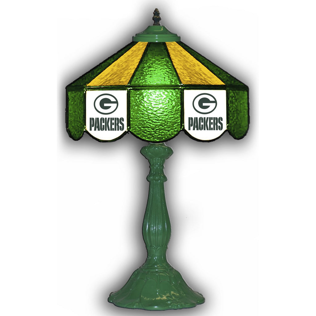 "Imperial Green Bay Packers 21"" Glass Table Lamp"