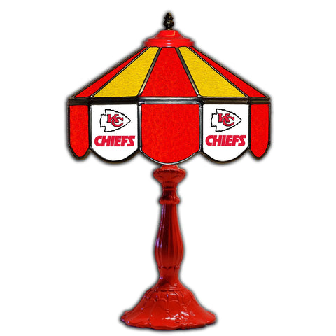 "Imperial Kansas City Chiefs 21"" Glass Table Lamp"