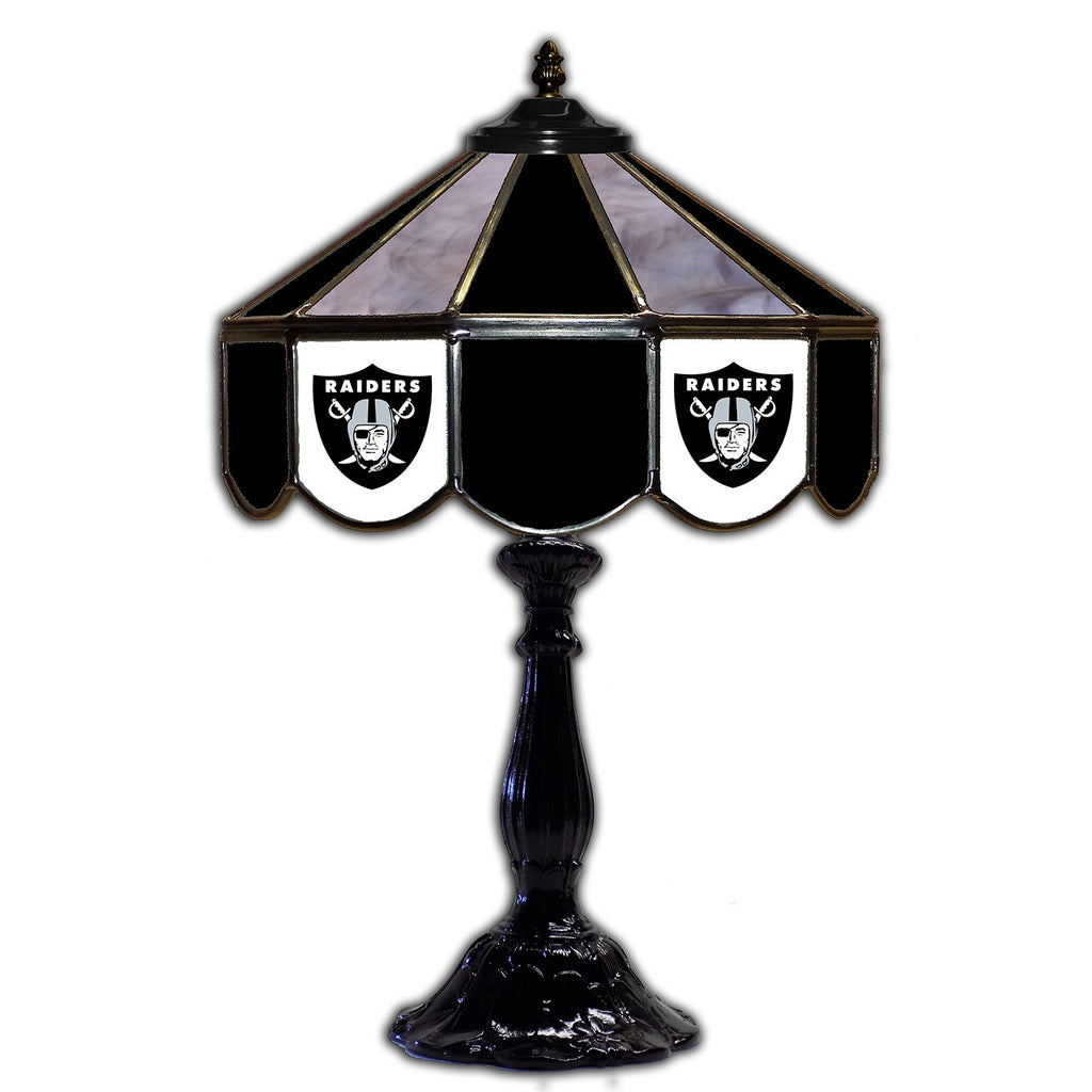 "Imperial Oakland Raiders 21"" Glass Table Lamp"