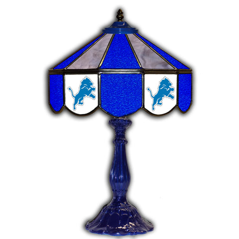 "Imperial Detroit Lions 21"" Glass Table Lamp"