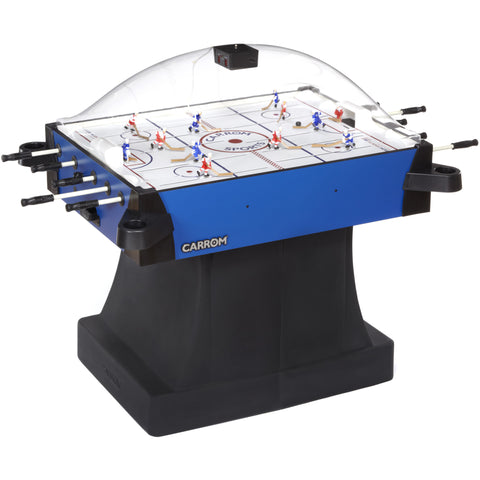 Carrom Signature Stick Hockey On Pedestal in Blue