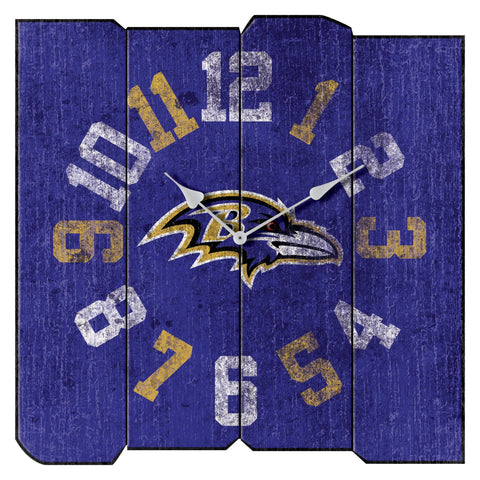 Imperial Baltimore Ravens Vintage Square Clock