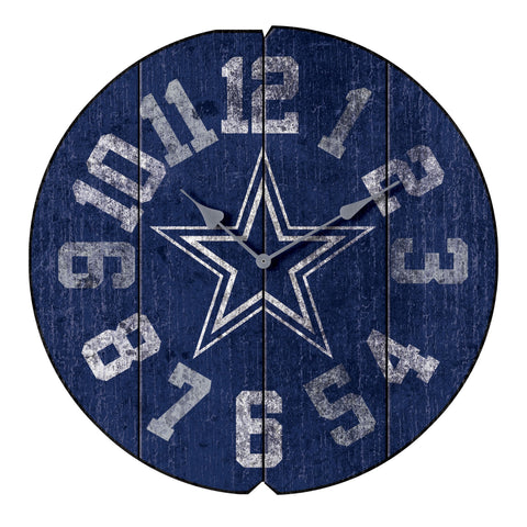 Imperial Dallas Cowboys Vintage Round Clock