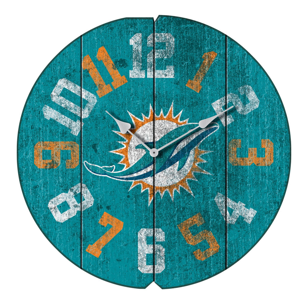 Imperial Miami Dolphins Vintage Round Clock
