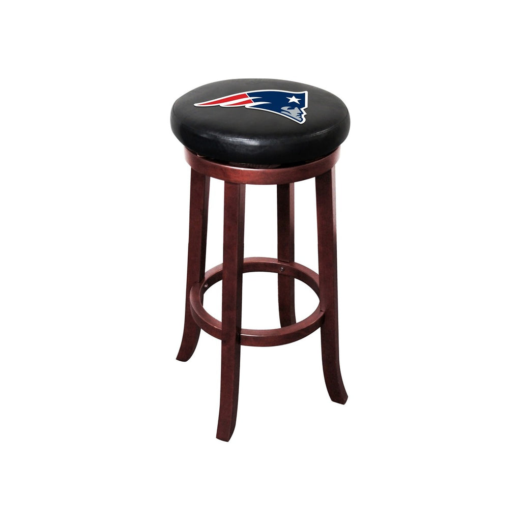 Imperial New England Patriots Wood Bar Stool