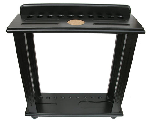 Berner Billiards 10 Cue Floor Rack in Black