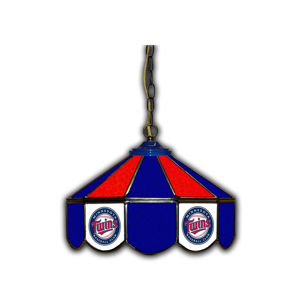 Imperial Minnesota Twins 14-in. Stained Glass Pub Light