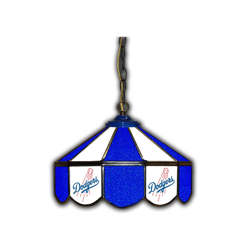Imperial Los Angeles Dodgers 14-in. Stained Glass Pub Light