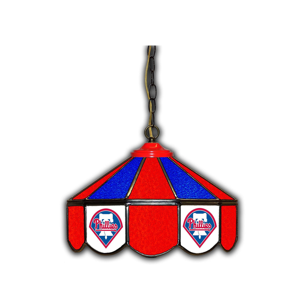 Imperial Philadelphia Phillies 14-in. Stained Glass Pub Light