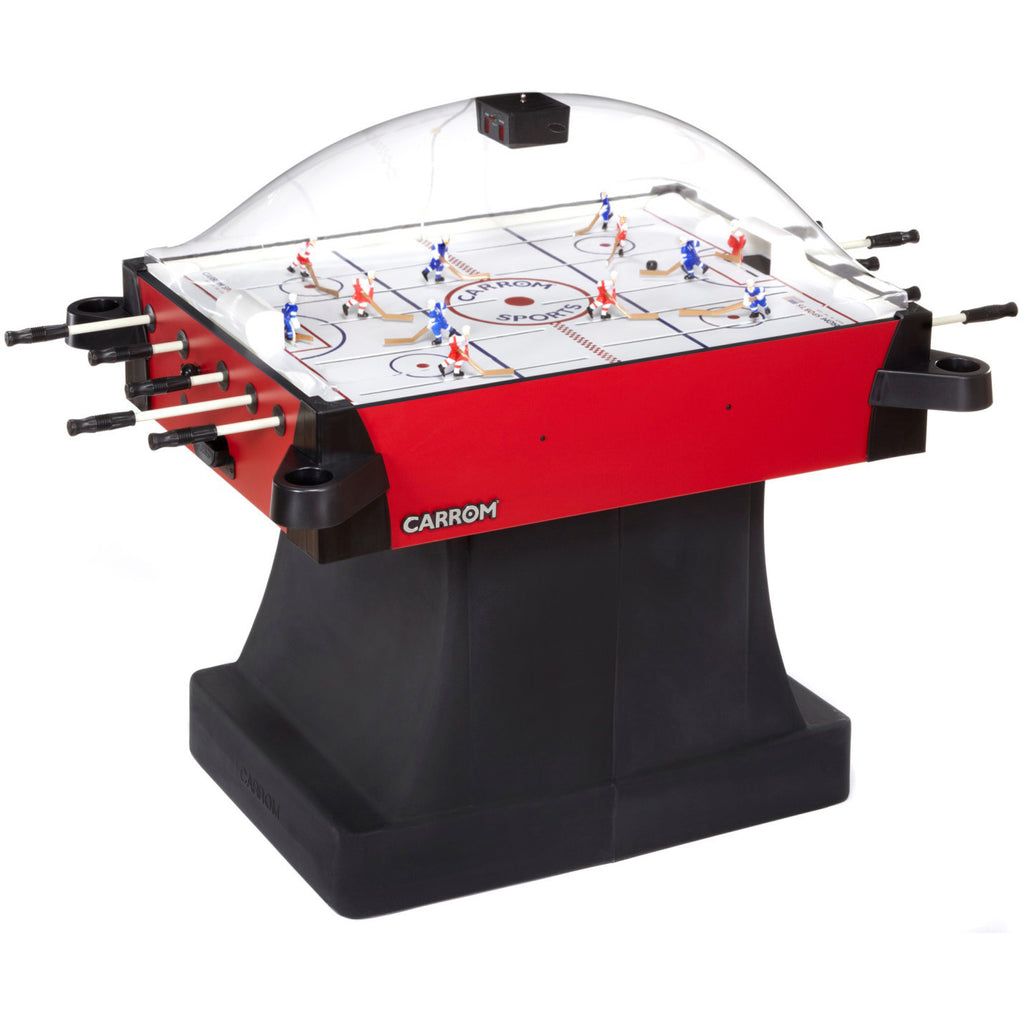 Carrom Signature Stick Hockey On Pedestal in Red