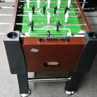 Playing Surface View of the Berner Billiards Mahogany Style Foosball Table Called The Player which is available at Foosball Planet