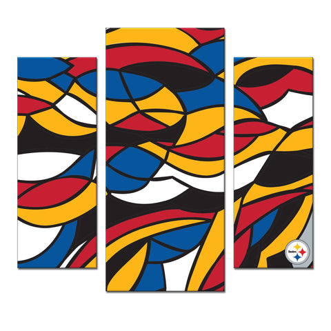 Imperial Pittsburgh Steelers Modern 3 Piece Wall Art