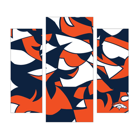 Imperial Denver Broncos Modern 3 Piece Wall Art