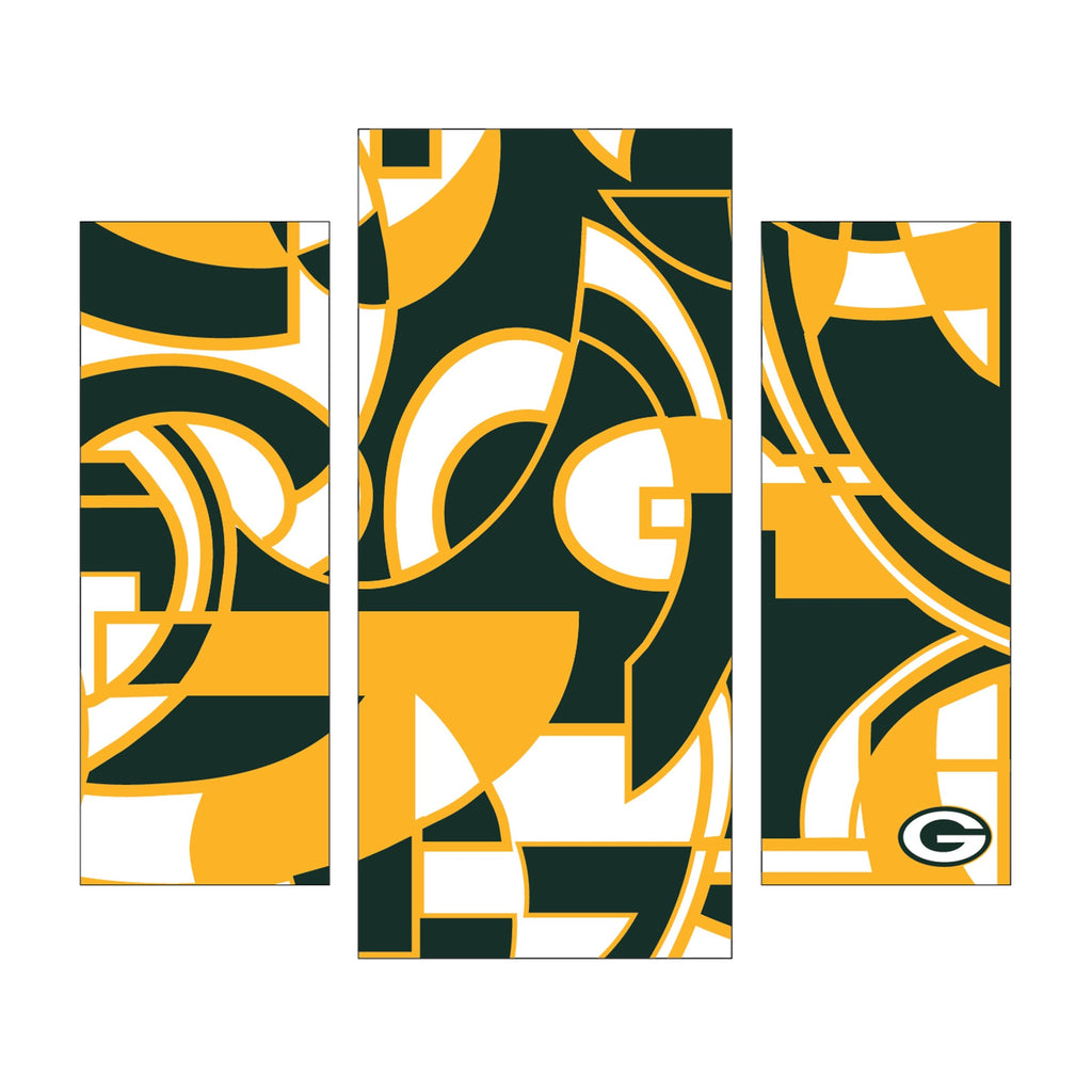 Imperial Green Bay Packers Modern 3 Piece Wall Art